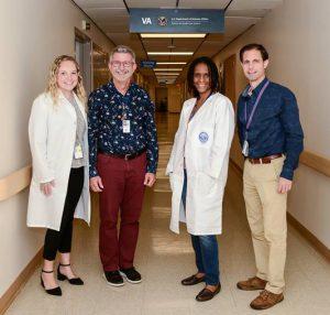 Alexis Whitmire (left), Theron Clark-Stuart, Telisha Harrison, and Dr. Vincent Marconi.